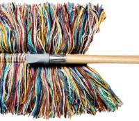 wool dry mop