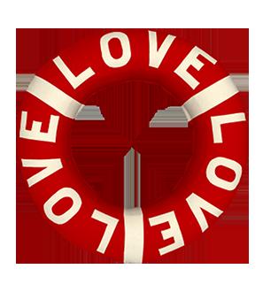 Love Safey Ring Cushion