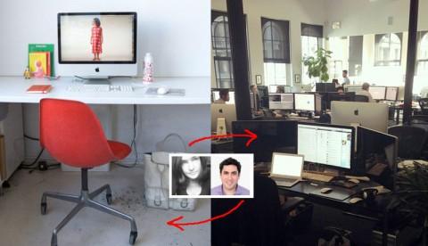 desk swap with Jesse Hertzberg