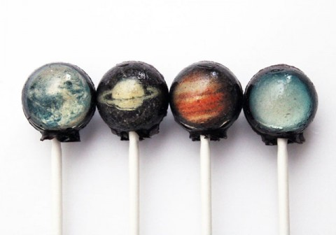 Solar System Hard Candy Lollipop