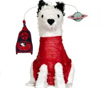space dog piñata