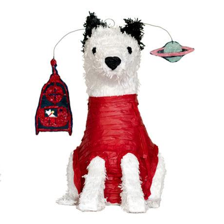 space dog piñata