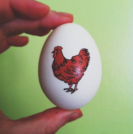 Hen on Easter Egg