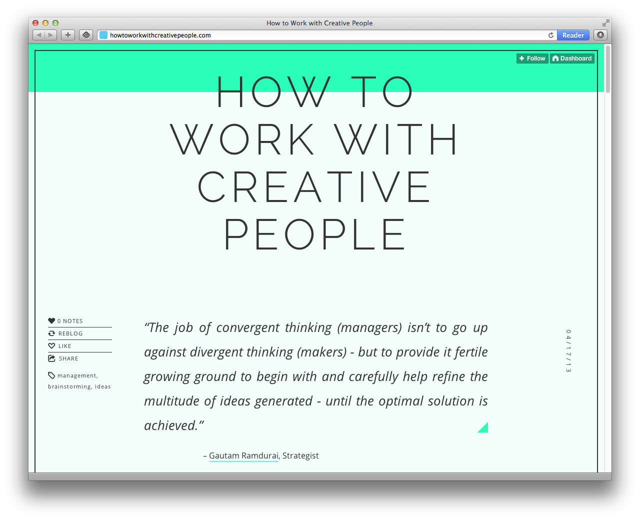 How To Work With Creative People