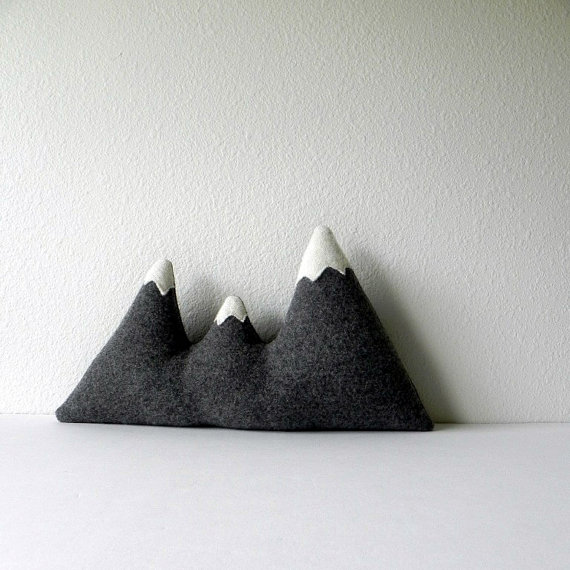 mountain range pillows