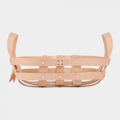 Strap Leather Bowl Basket