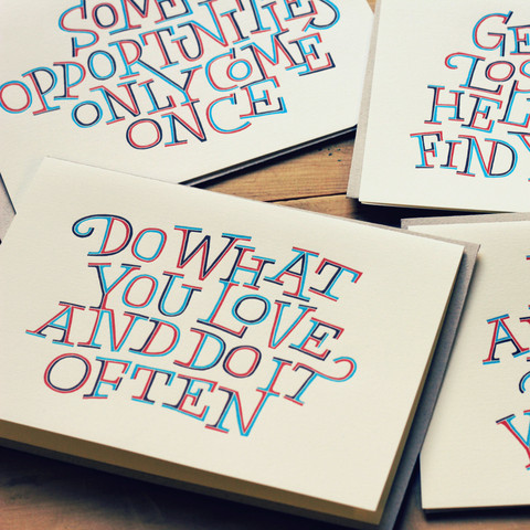 Holstee Letterpress Card