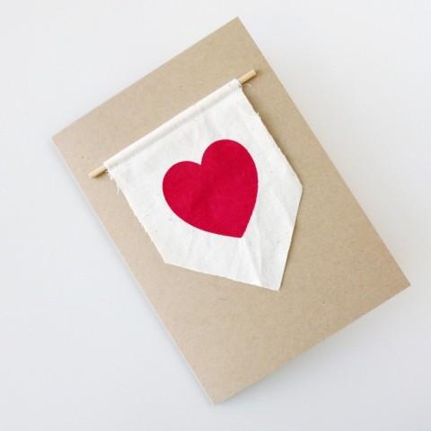 Heart Banner Card