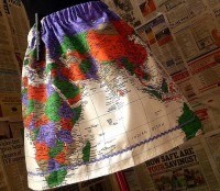 map of the world skirt