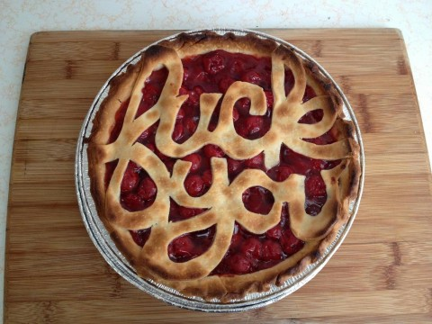 pie with a message
