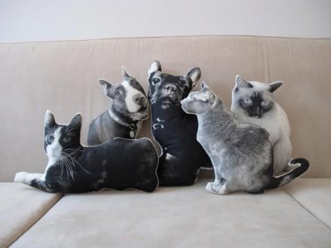 custom silkscren pet pillow