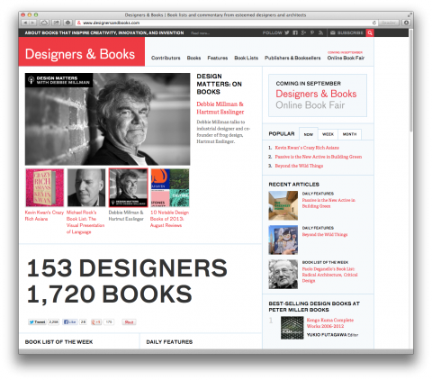An All New Designers & Books