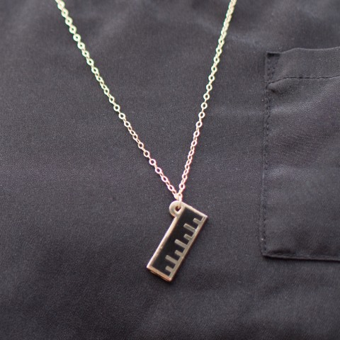 Enamel Ruler Necklace