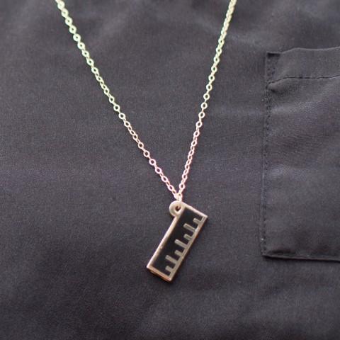 Enamel Ruler Necklace