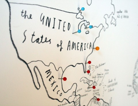 Oliver Jeffers World Map