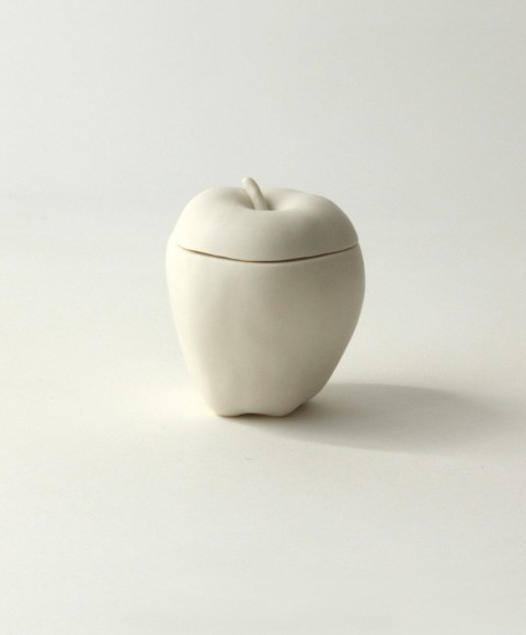 white apple container