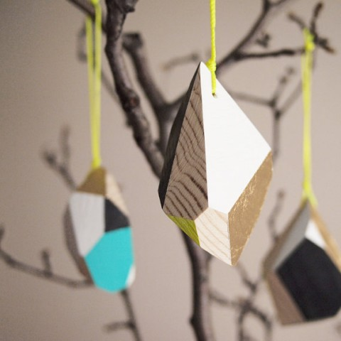 Geometric Wooden Ornament