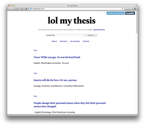 LOL my thesis