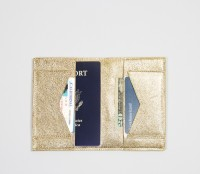 Gold passport wallet