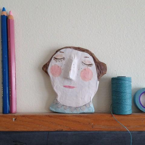 paper-mache face