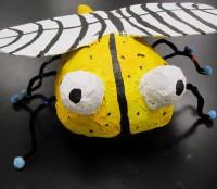 papier mache bee