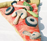 pizza slice sleeping bag