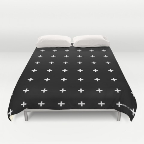 white plus duvet cover
