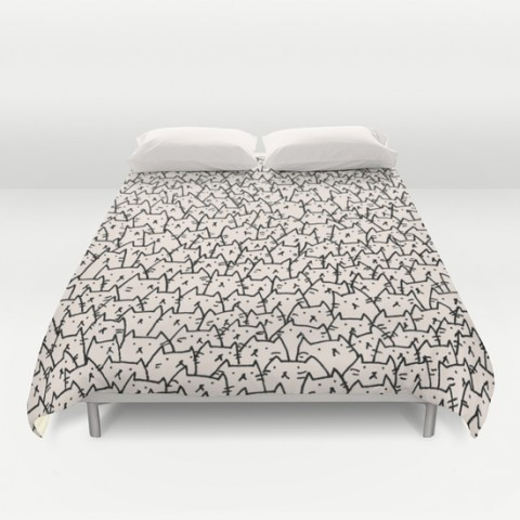 raining cats duvet cover