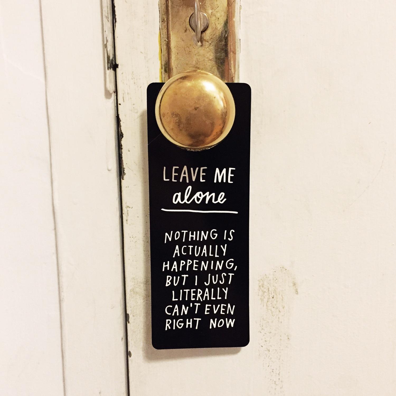 leave ma lone door hanger