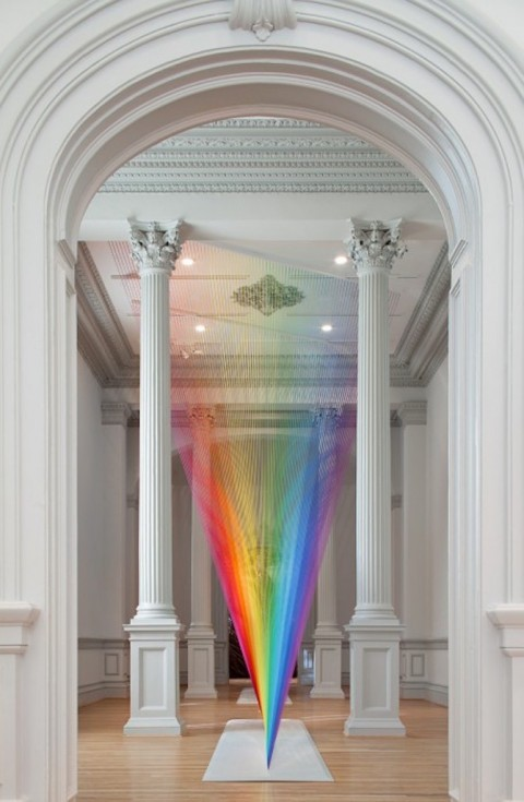 A Threaded Light Spectrum By Gabriel Dawe