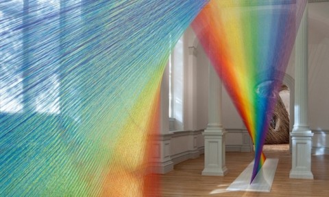 A Threaded Light Spectrum By Gabriel Dawe