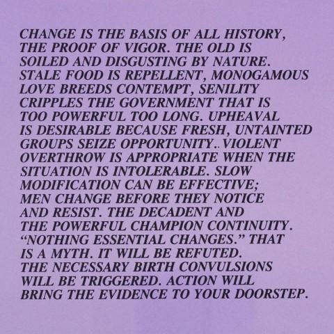 Change Essay Jenny Holzer