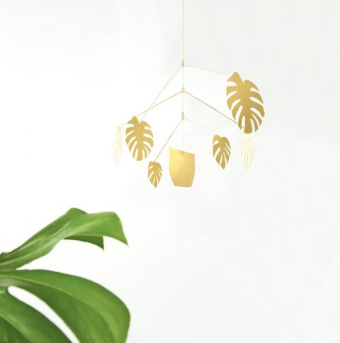 Monstera Plant Mobile