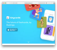 tiny cards by duolingo