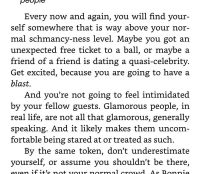 Do not be intimidated by Glamorous people