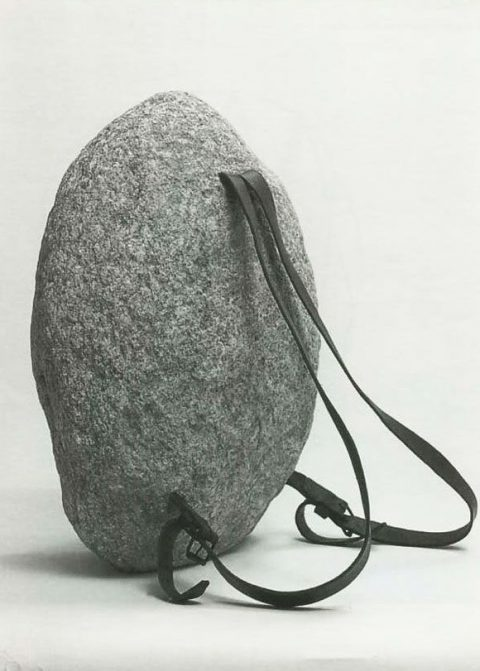 stone backpack by Jana Sternback