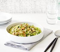 Recipe: Shaved Brussels Sprouts with Sautéed Shallots