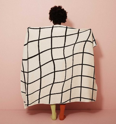 wavy grid throw