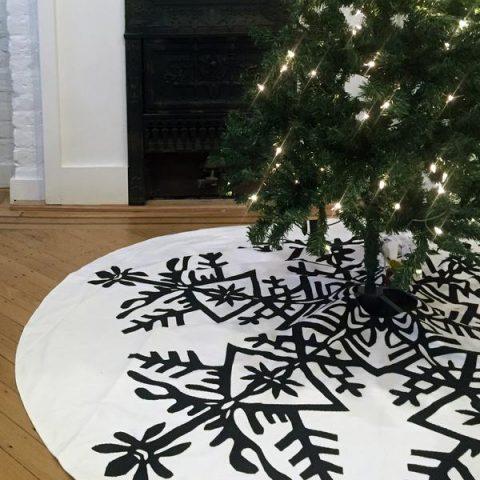 snowflake tree skirt