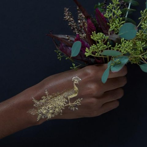 Gold Peacock By Rifle Paper
