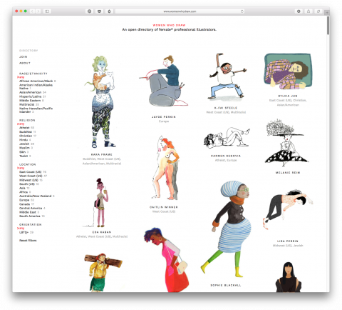 Women Who Draw Website
