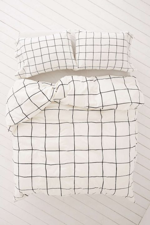 wonky grid duvet covers