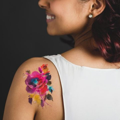 cc4c9f2c2 A few weeks ago Tattly launched Helen Dealtry's Watercolor Flower Tattoos  and I can't get enough of them. I almost wish they weren't temporary.