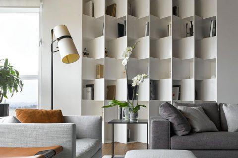 beautiful builtin bookcase