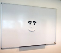 Who's that smiling at me in the conference room?
