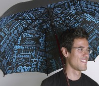 typography umbrella