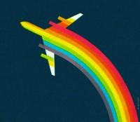 rainbow + air canada