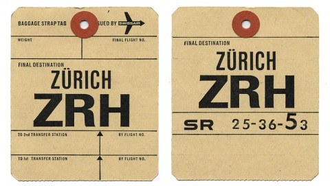 swissmiss | vintage swissair luggage tags