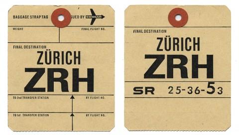 Train Luggage Tag Vintage Swissair Luggage Tags