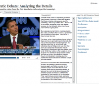 Smoothly navigate and analyze the most recent Democratic Debate